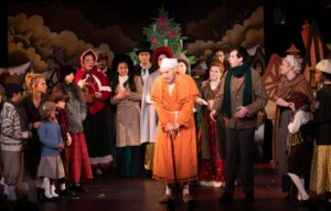 Cast of A Christmas Carol the Musical Off-Broadway 2018